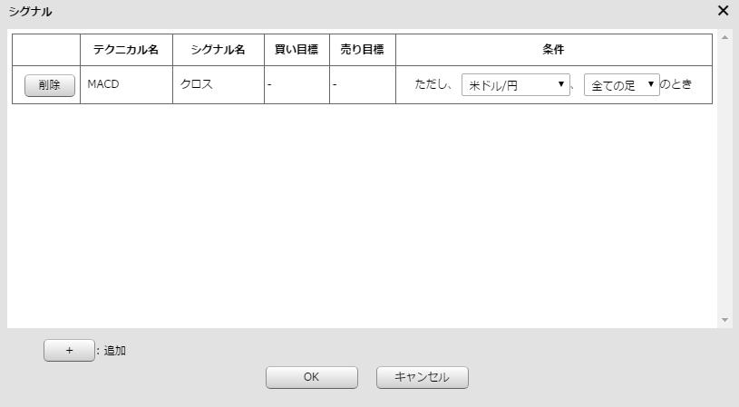 シグナル登録の設定