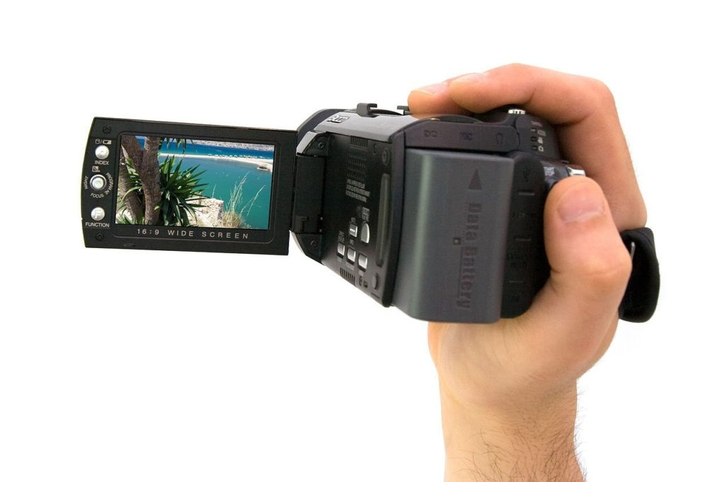 YouTubeのビデオカメラ