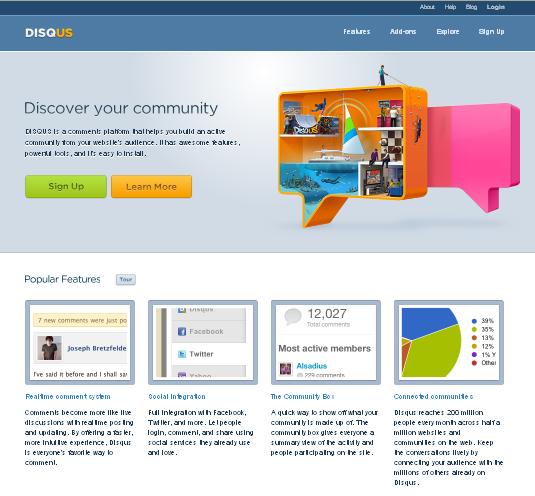 DISQUSのトップページ