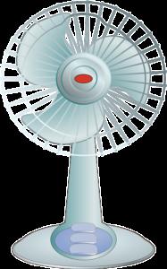 窓用エアコンと扇風機の組み合わせ