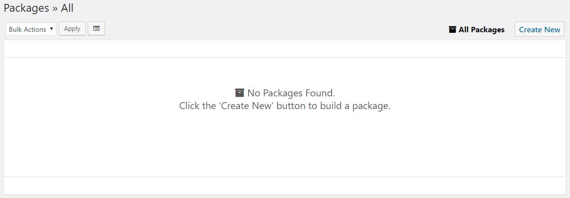 パッケージを作成するCreate New