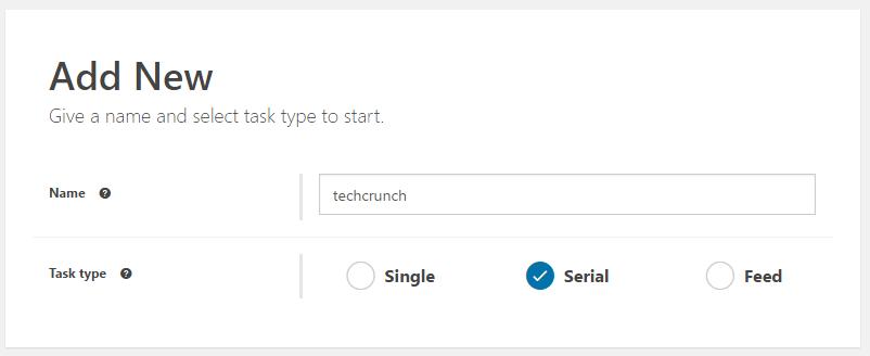 サイト名や投稿のタイプを選択