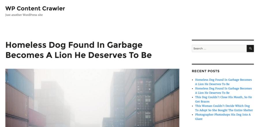実際にスクレイピングされた記事