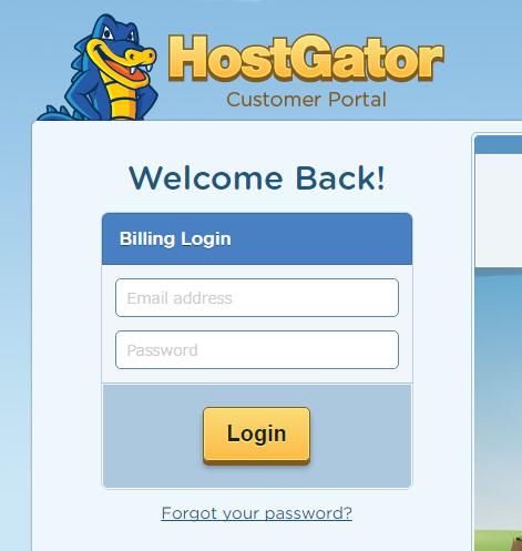 hostgatorのログイン画面