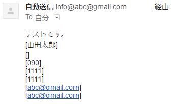 届いたメールの内容