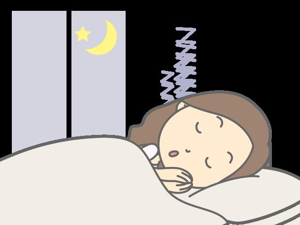 快適な睡眠が出来ている