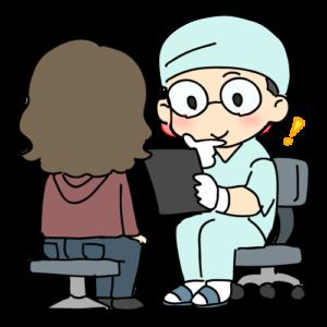 カウンセリングで医師と話す