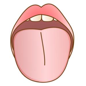 舌苔を掃除してきれいになった舌