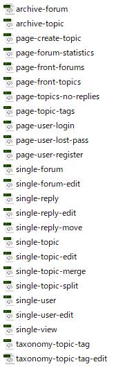 掲示板の表示に関するファイル
