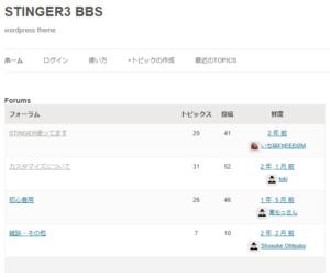 WordPressテーマを配布するサイトのBBS