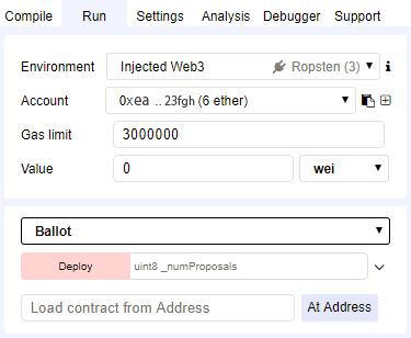 Ropsten Test Networkとの接続によりETHが使用可能になる